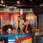 Burke Allen on the CBN set with best-selling author/screenwriter Andrew Klavan and CBN host Jennifer Wishon