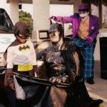 Burke as Batman at movie premiere 1995