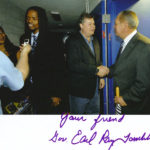Burke Allen, Landau Eugene Murphy Jr., Landau's wife Jennifer and the Governor of West Virginia Earl Ray Tomblin