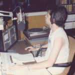 Burke Allen on the air at WKEE - 1986