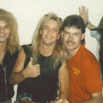 Poison and Burke Allen backstage - 1988