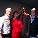 Anderson Cooper with Landau Eugene Murphy Jr., wife Jennifer and Burke Allen