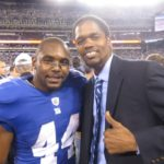 New York Giant Ahmad Bradshaw and Landau Eugene Murphy Jr.