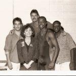 Burke Allen backstage with MC Hammer - 1992
