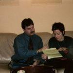 Sarah McLachlan being interviewed by Burke Allen