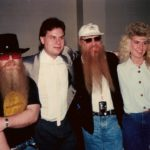Dusty Hill and Billy Gibbons of ZZ Top and Burke Allen